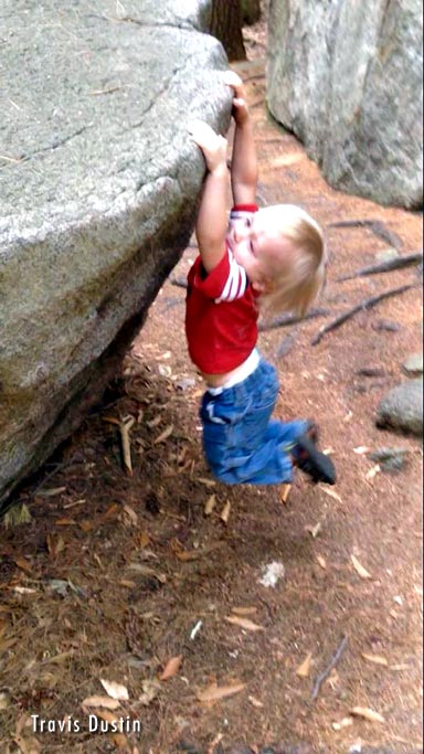 Maxwell (Max) Dustin  (2 1/2 years old) sticking the dyno