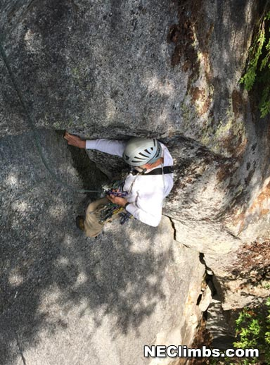 George Hurley seconding his very nice 5.6 arch route.