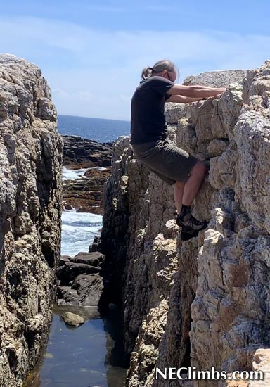 Bouldering the Trap Dike. Nothing too hard, but whole lot of fun.